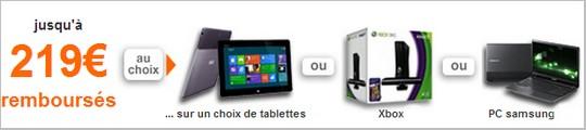 Offre de remboursement de 200€ sur une tablette numérique