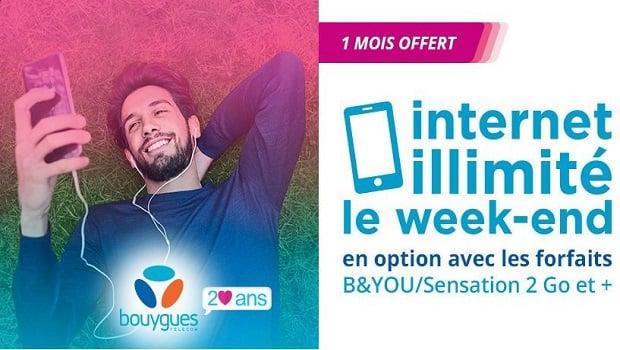 L'offre week-end illimité de Bouygues Telecom