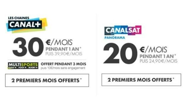 Les offres Canal+ et CanalSat