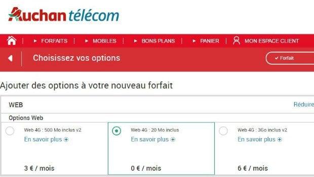 Auchan Telecom : les options data