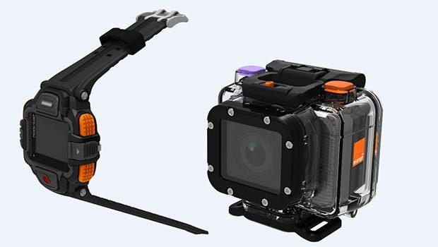 Une action-cam et une montre, plus un boitier