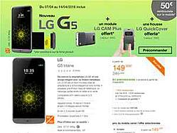 LG G5 précommande