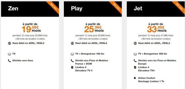 Orange : offres ADSL en promo