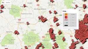 Carte des communes fibrées Orange, Bouygues, Free et SFR
