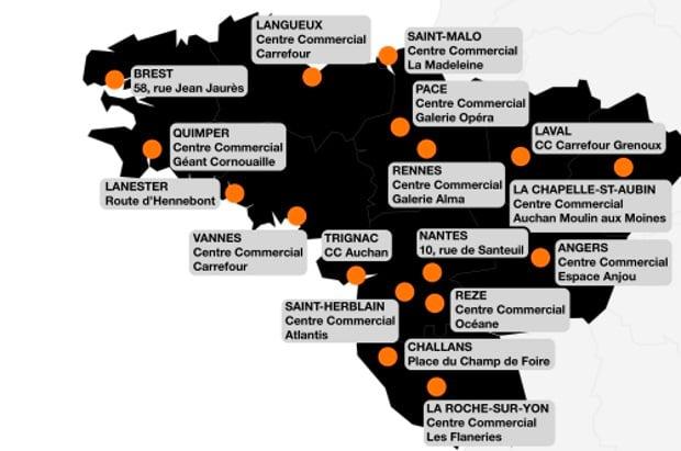 Orange Bank : 17 boutiques agréées dans l'Ouest (Bretagne et Pays de la Loire)