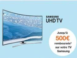 Jusqu'à 500€ chez Samsung sur les TV UHD
