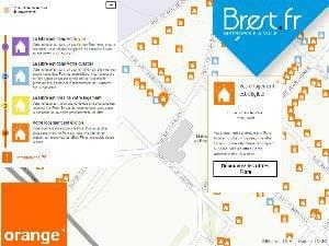 Orange fibre la ville de Brest