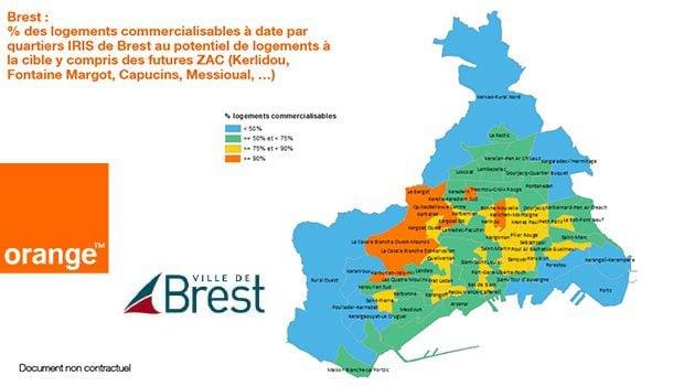 Brest et la fibre optique Orange