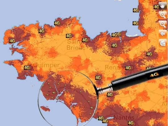 Orange en 4G Presque partout en Bretagne