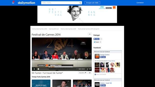 Dailymotion permettra à tous de suivre le Festival de Cannes en direct et en replay