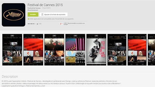 Une application mobile du Festival de Cannes disponible sur iOS et Android