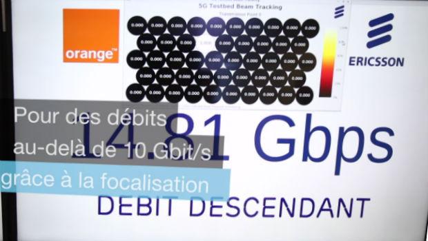 Des débits descendants à presque 15 Gbit/s en 5G
