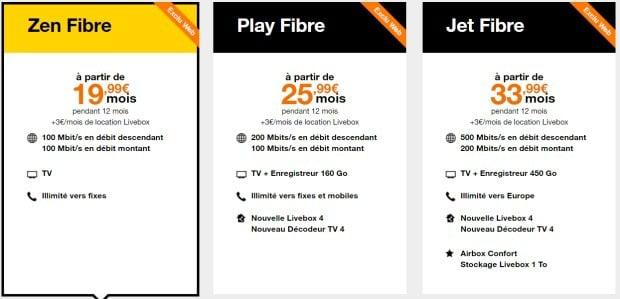 Orange :les abonnements fibre en promotion