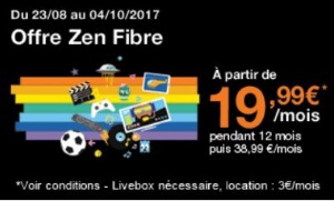 Orange : Livebox fibre en promotion