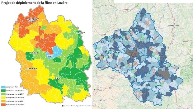La fibre en Occitanie dans le Lot, la Lozère et l'Aveyron