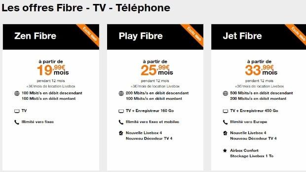 Orange Zen Fibre à partir de 19,99€/mois