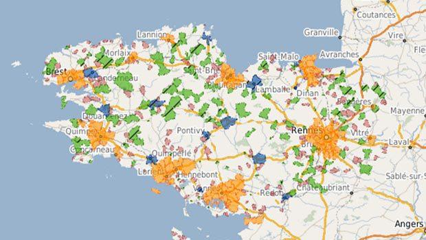 Orange est en Bretagne sur les zones d'initiative public et privée