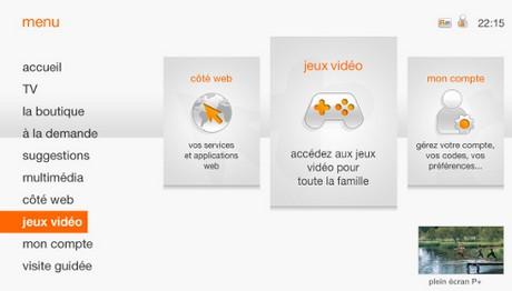 Jeux en streaming Orange TV