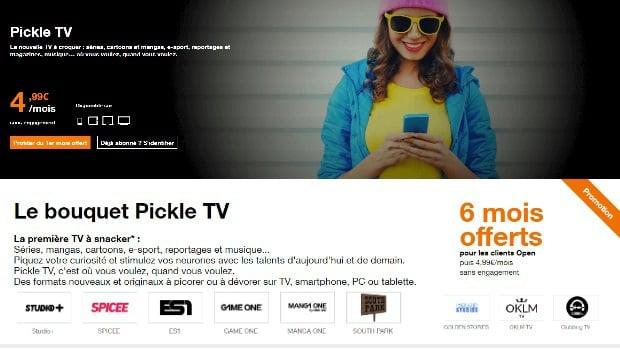 Pickel TV chez Orange, le bouquet TV pour les 15-35 ans