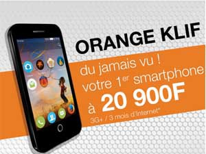 klif d'orange le smartphone africain low cost