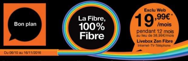 La fibre à moins de 20 euros chez Orange