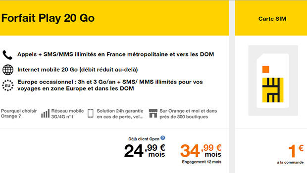 Options et promotions Orange mobile