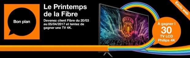 Orange : TV 4K à gagner avec un abonnement fibre