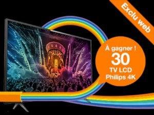 Concours fibre orange TV 4k