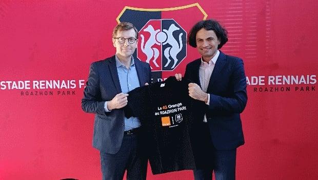 Pierre Jacobs, Directeur Orange Ouest et Olivier Tomine, Directeur Général des services du Stade Rennais FC