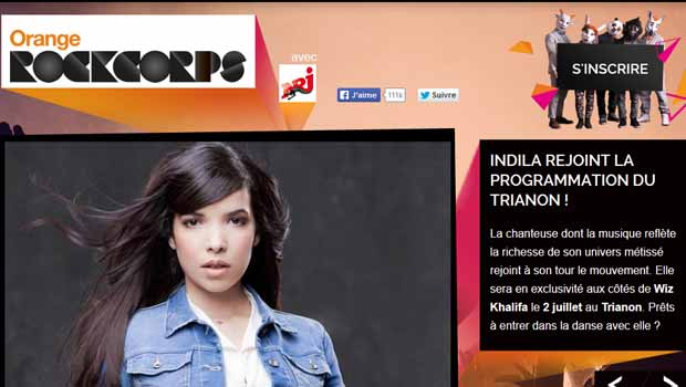 Orange RockCorps 2014 avec Indila, Cut Killer et Wiz Khalifa