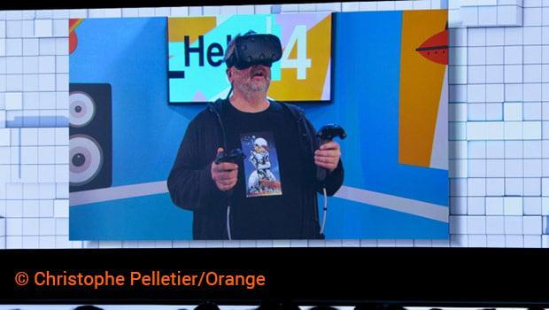 Luc Besson s'est immergé en VR à 360° dans la nouvelle Livebox d'Orange