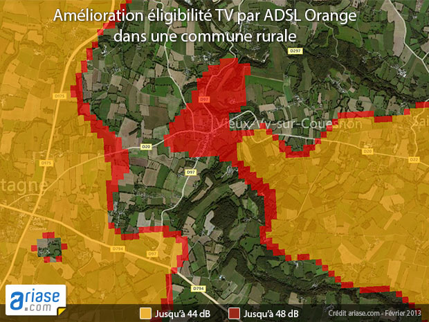 TV d'Orange dans une commune