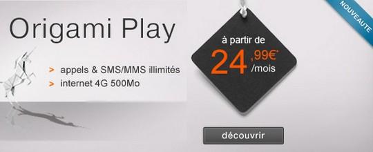 Orange Origami Play 4G à 24.99€