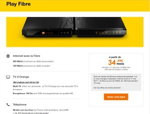 Orange : Offre Play fibre