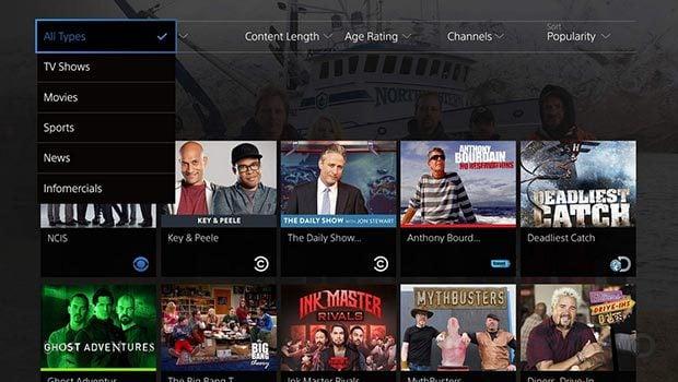PlayStation Vue : 75 chaînes TV... pour commencer