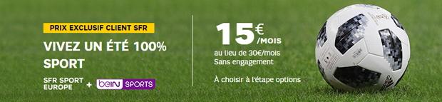 Coupe du monde à la télé : beIN SPORTS en promo avec SFR Sport Europe