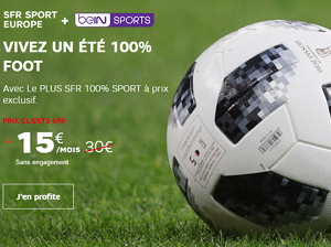 BeIN Sport+ SFR Sport Europe à 15 euros