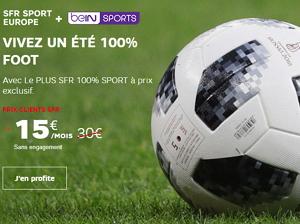 beIN SPORTS + SFR Sport Europe à 15 euros