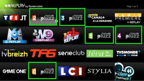 La TV à la demande de France Télévision est disponible chez Numericable