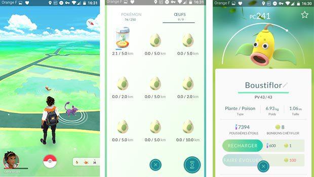 Pokémon Go sur Android et iOS