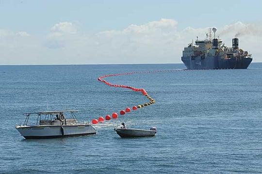 pose du cable sous-marin honotua en polynésie française ©Groupe OPT