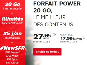 SFR Power : data doublée à 40 Go