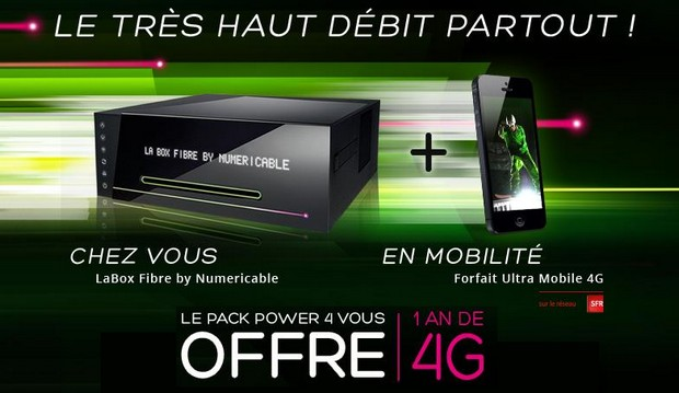 La 4G de Numericable est lancée aujourd'hui sur le réseau de SFR