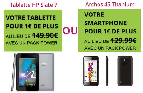 tablette HP ou smartphone Archos à 1€