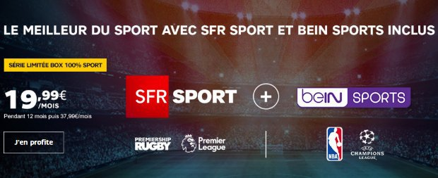 La série limitée 100% sport de SFR