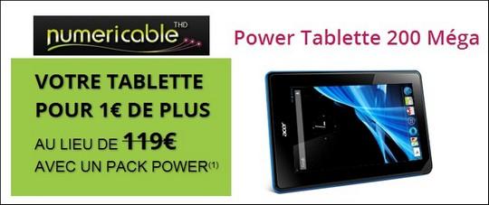 tablette ACER pour un euro avec Numericable