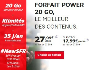 SFR : Power 20 Go avec extra BeIN Sports