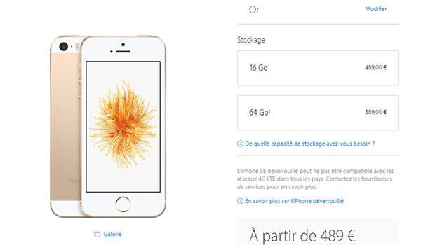 iPhone SE 64 Go en précommande