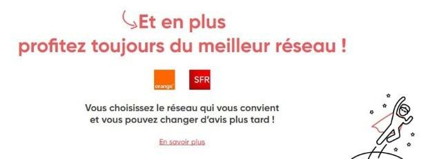 Forfaits mobiles : Prixtel sur le réseau Orange ou SFR