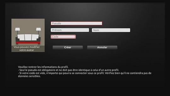 Les différents membres d'une meme famille peuvent se connecter avec un profil personnalisé sur la Freebox
